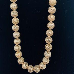 Monet Gold Filigree Vintage Necklace